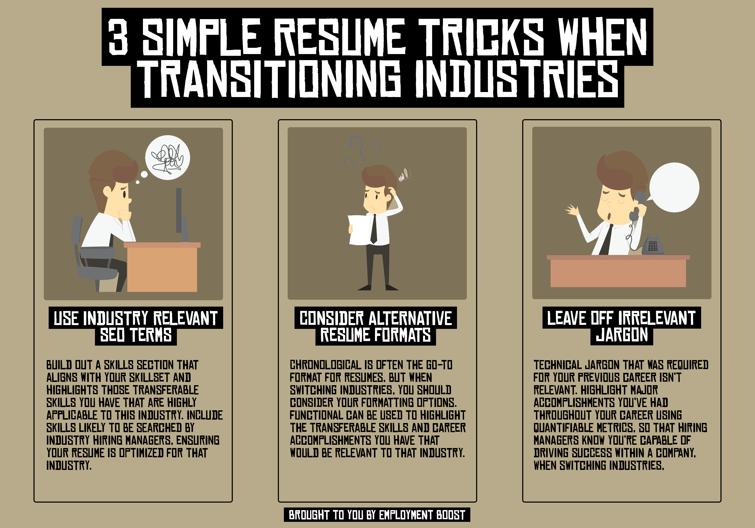 3 resume tips for transitioning industries